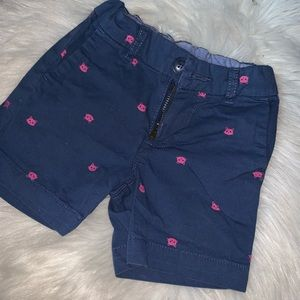 Blue and pink short